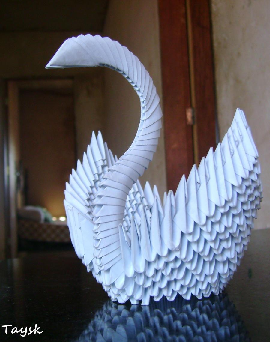 3d origami cisne