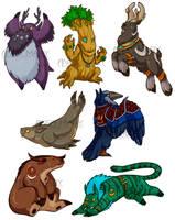 Druid forms by NamedYoro