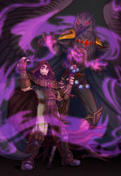 Commission: Medivh and Raven Lord