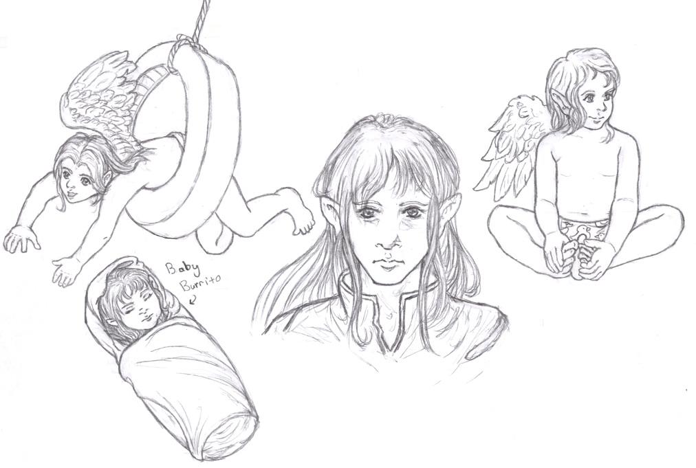 Elerus Sketchpage by Ardwenn