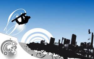urban-snowboard-wallpaper by loosy