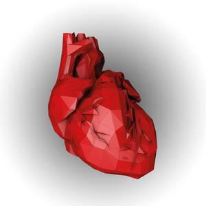 low poly heart c4d