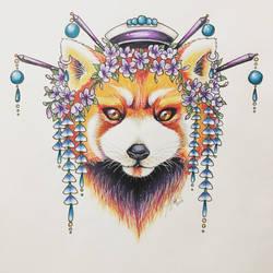 Geshia Red Panda  by misfitghost