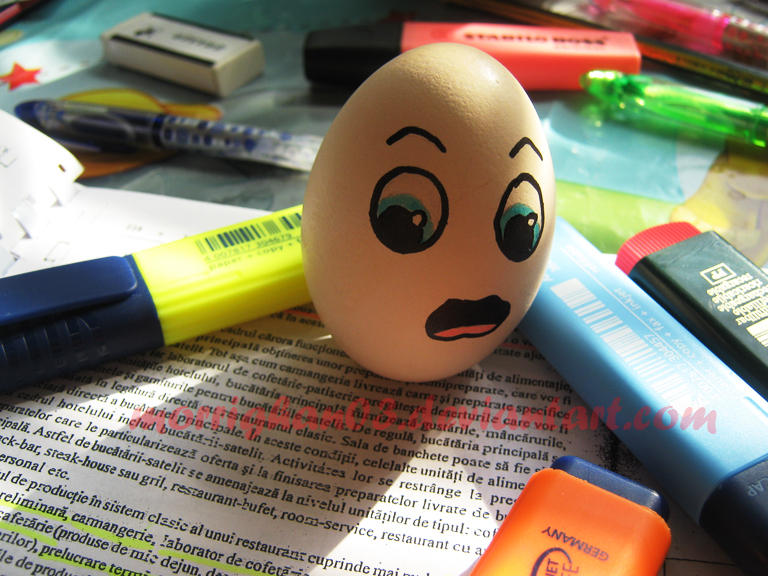 Mr. Egg has a lot to study