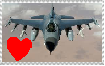 I love F-16 stamp by HTC-Master