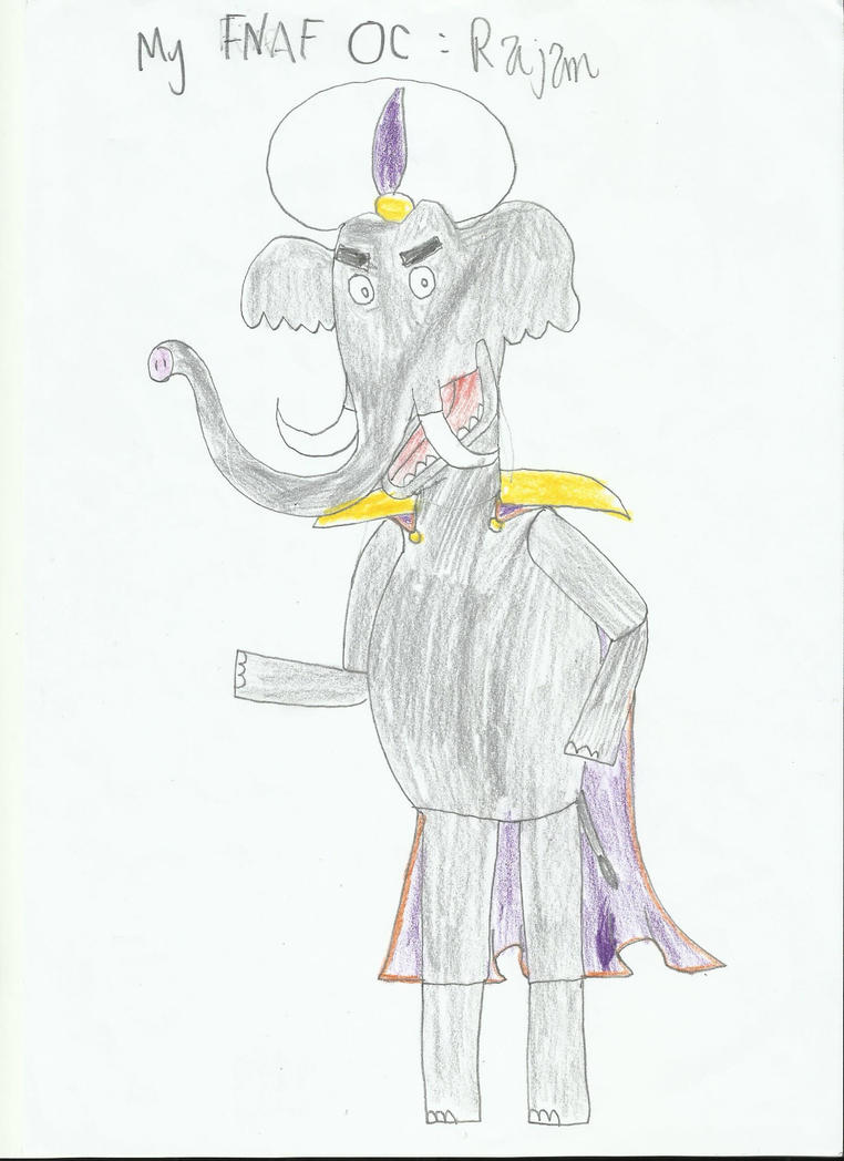 My FNAF OC Rajan by JumbotheElephant232