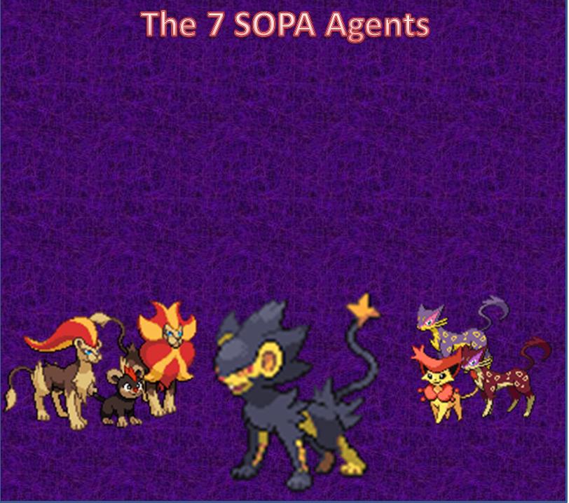 The Seven SOPA Agents by DarkWolfWavius