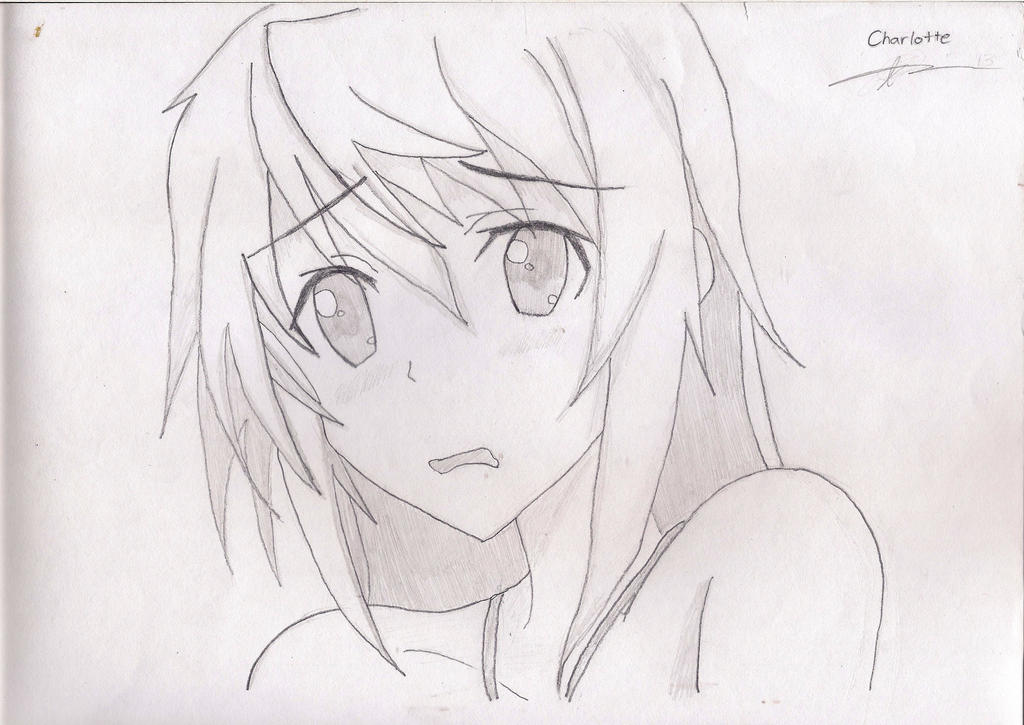 Anime Drawing Charlotte Infinite Stratos By Aesges On