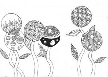Zentangle inspired doodle by titanik23