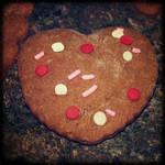 Valentine gingerbread cookie