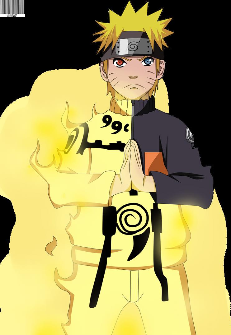 Pics For > Naruto Kyuubi Chakra Mode Chibi