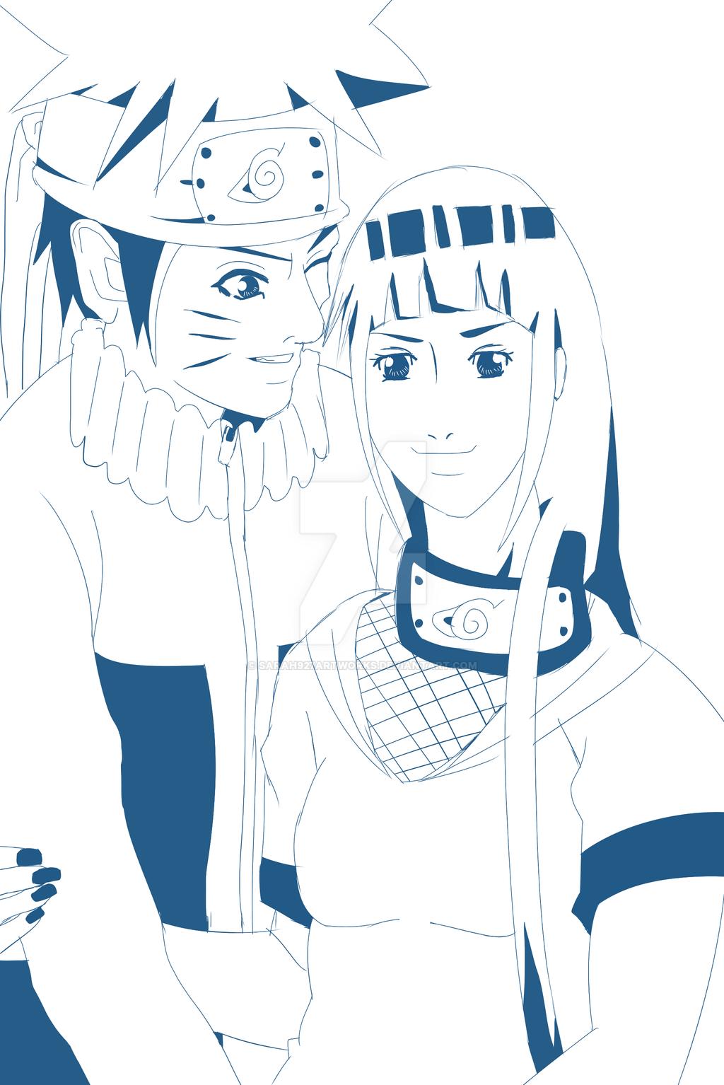 Sketch NaruHina  by Sarah927