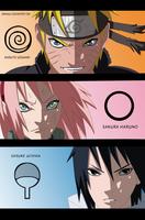 Naruto Scan632 Naruto Sakura and Sasuke Team 7 by Sarah927Artworks