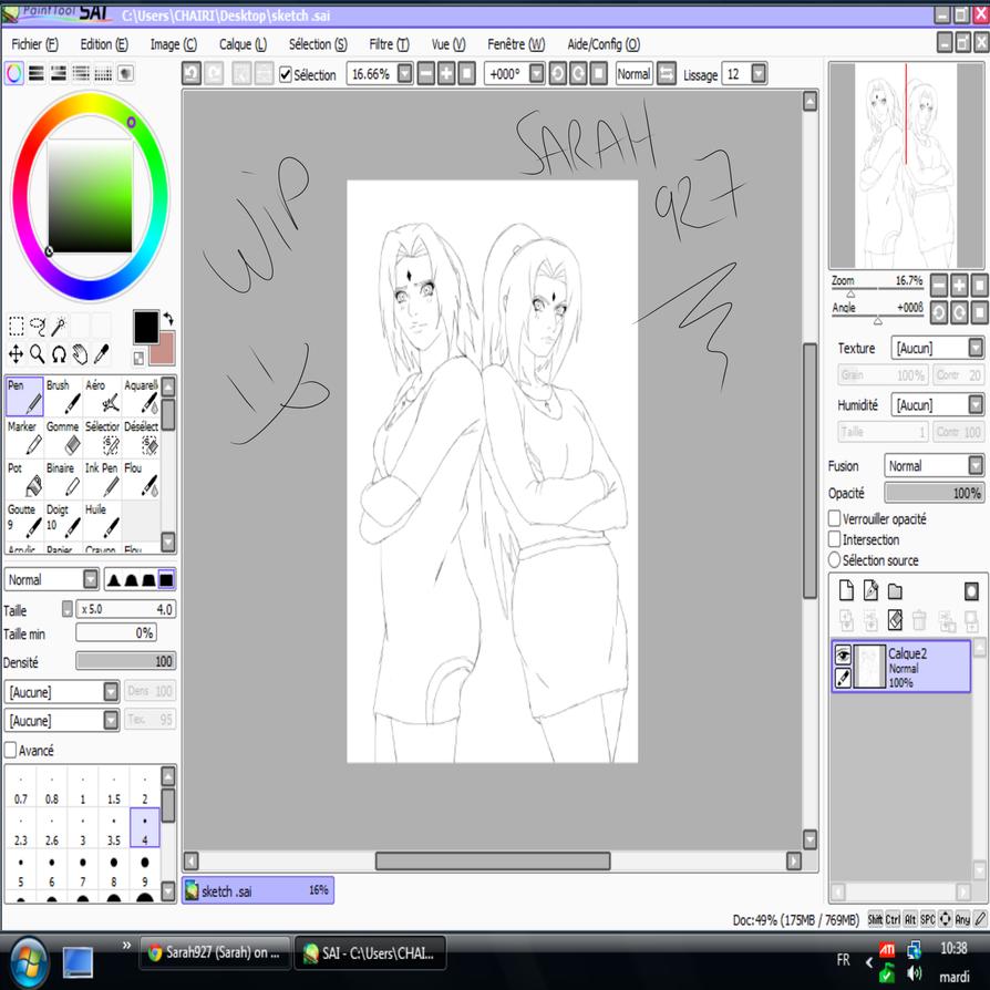 Wip Sakura And Nayumi Woman Uchiha  by Sarah927