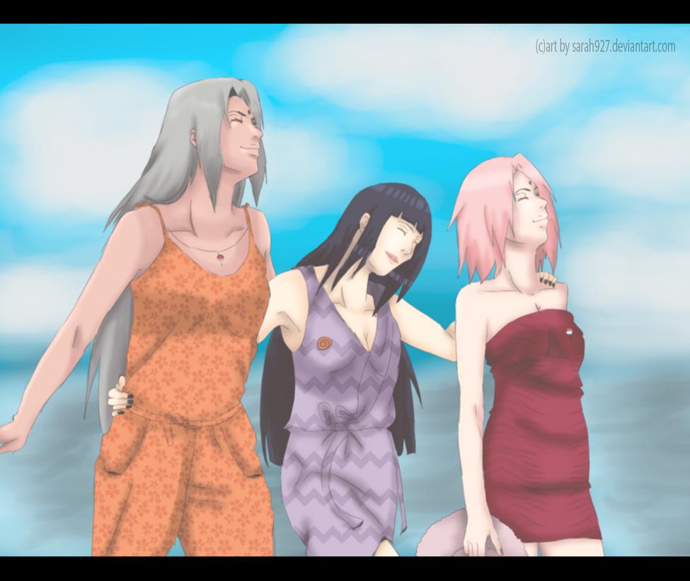 Nayumi Hinata and Sakura Friends by Sarah927