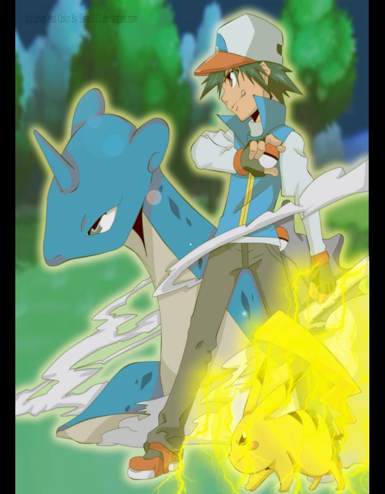 GIFT : Sasha and Pokemon by Sarah927