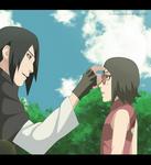 Sasuke and Sarada father and Daughter