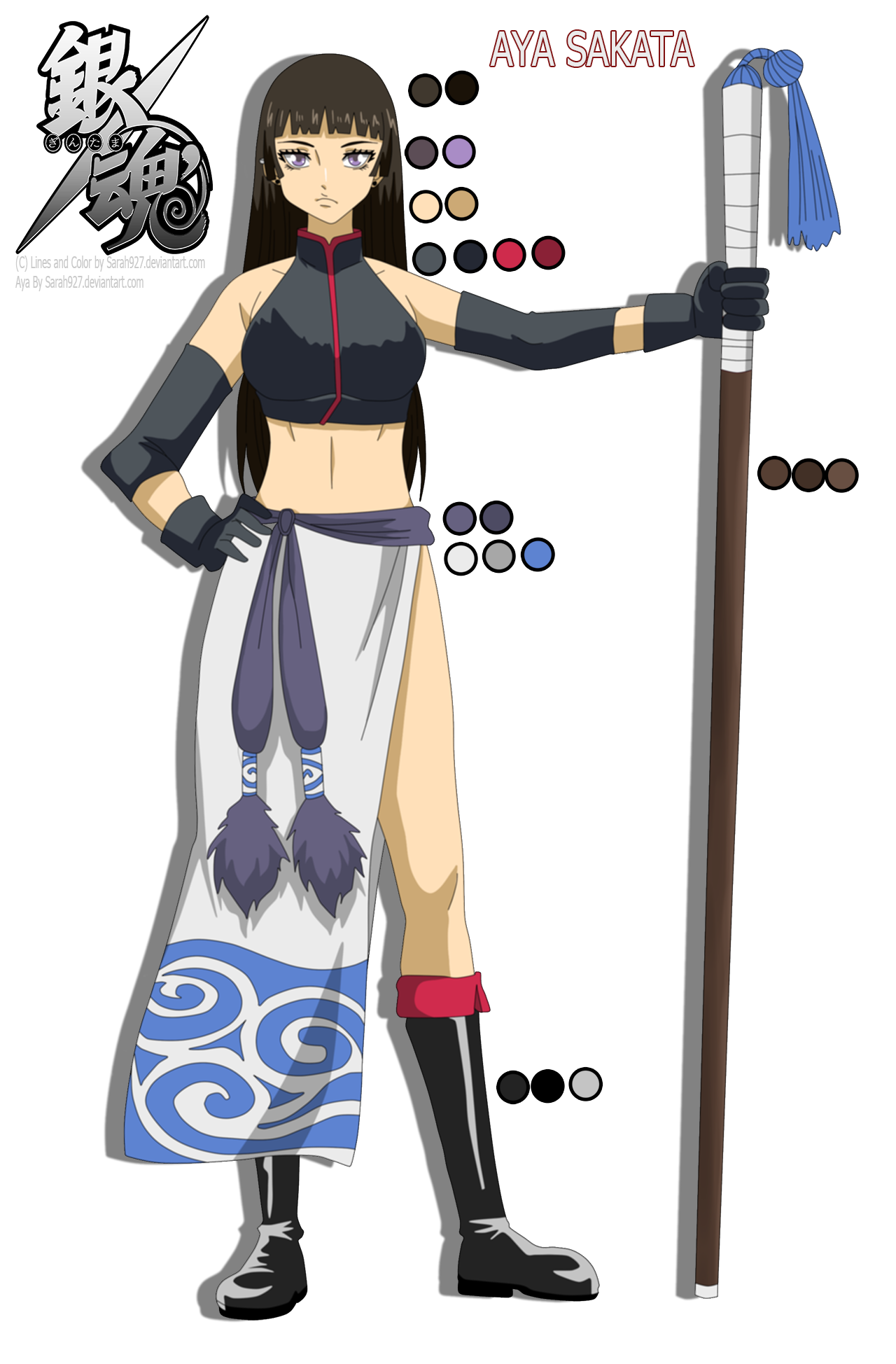aya sakata fullbody reference anime color by sarah927artworks on