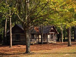 Log Cabin by sixwings