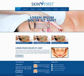 Skinfirst Homepage Mockup
