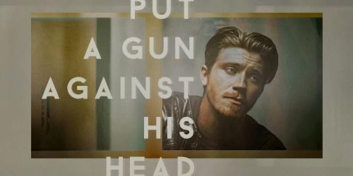put a gun against his head by sadzoo