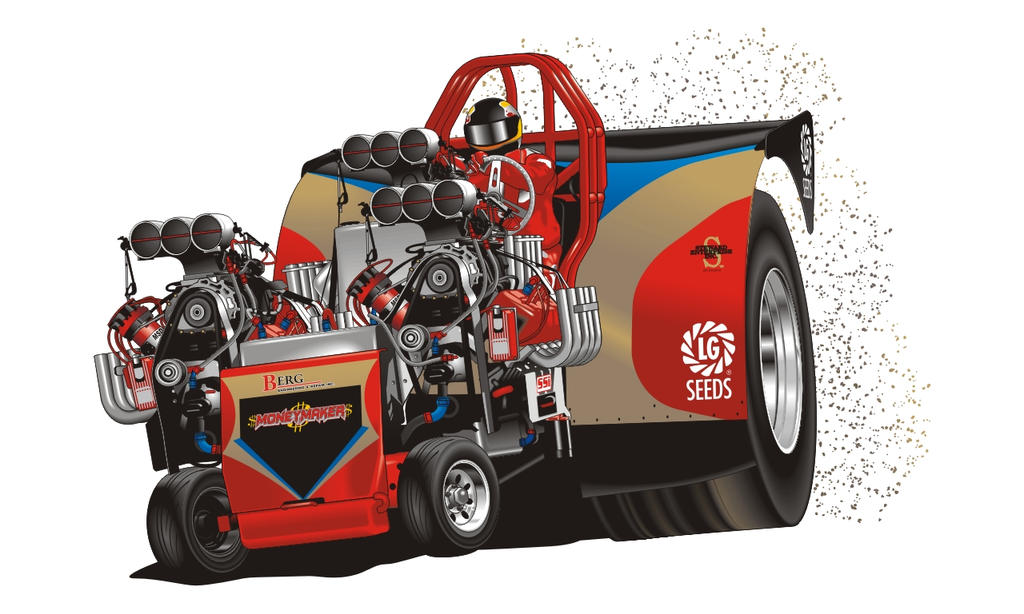 Tractor Pull Artwork : Berg pulling tractor by roadapple red on deviantart