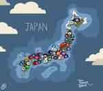 Japan Countryball Map