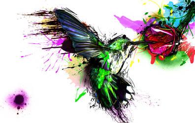 Rainbow Hummingbird by Danger-Pig