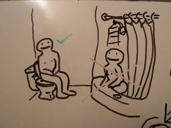 bathroom drawing 1-16-11 by jesseaaah