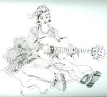 guitar pickin' gal by jesseaaah