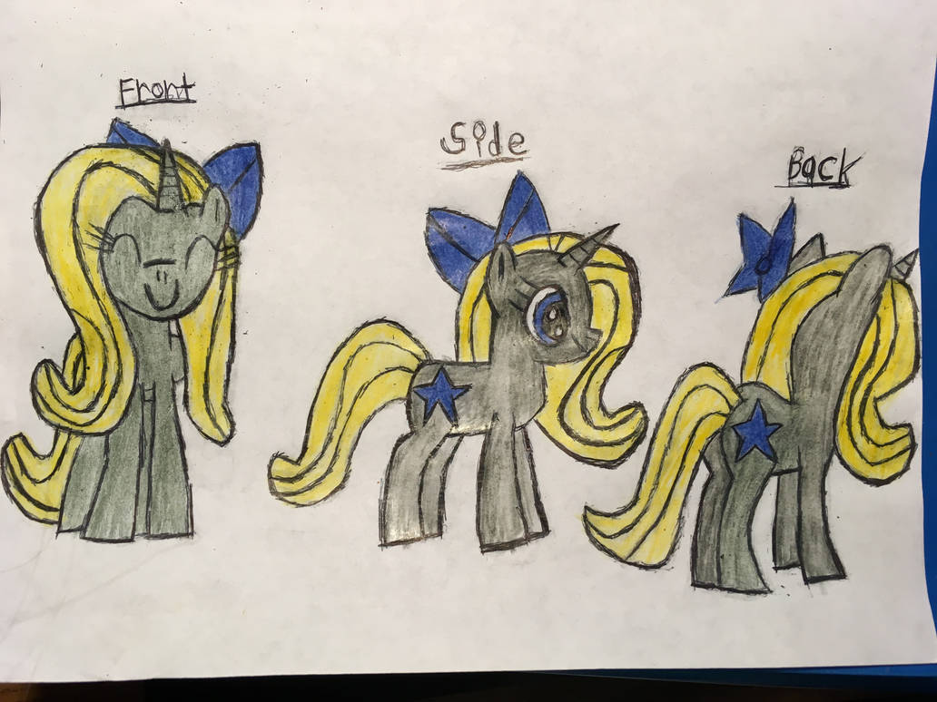 Star Treasure: front, side, and back. by SuperGrape1