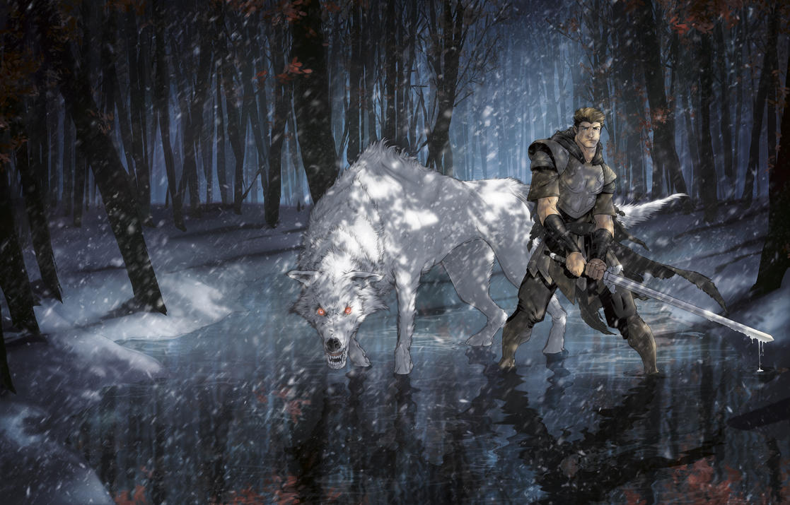 Jon Snow And Ghost By RStotz On DeviantArt