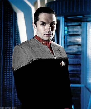 Sam Witwer as a Vulcan by Rabittooth