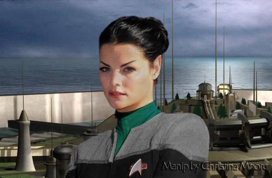 Jaimie Alexander as a Vulcan