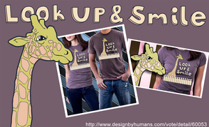 Look up and Smile T-Shirt by yellowbouncyball