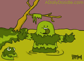 Swamp Monster by yellowbouncyball
