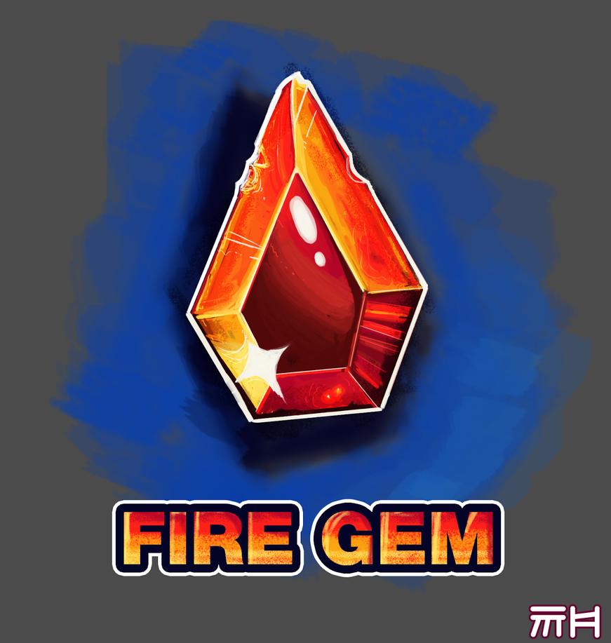Fire Gem by yellowbouncyball