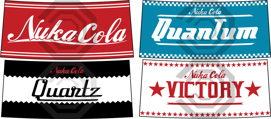 Nuka Cola Bottle Logo's by SUBJECT-241