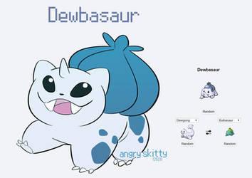 [Pokemon Fusions] Dewbasaur by Katarinu