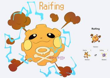 [Pokemon Fusions] Raifing by Katarinu