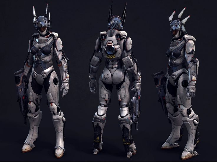 Futuristic Female Sci Fi Armor By Masterkorg On Deviantart