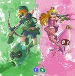 Link n' Peach Splatoonized