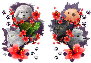 Pets -Tattoo Design- by LinkDoodle