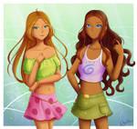 Flora and Aisha
