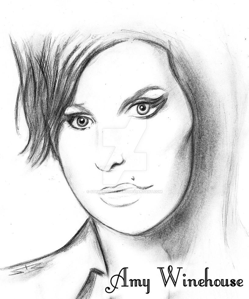 Amy Winehouse Pencil Drawing By Stevendureckart On Deviantart