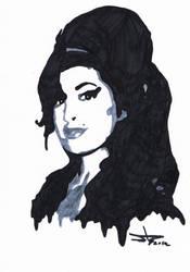 Portrait - Amy Winehouse by StevenDureckArt