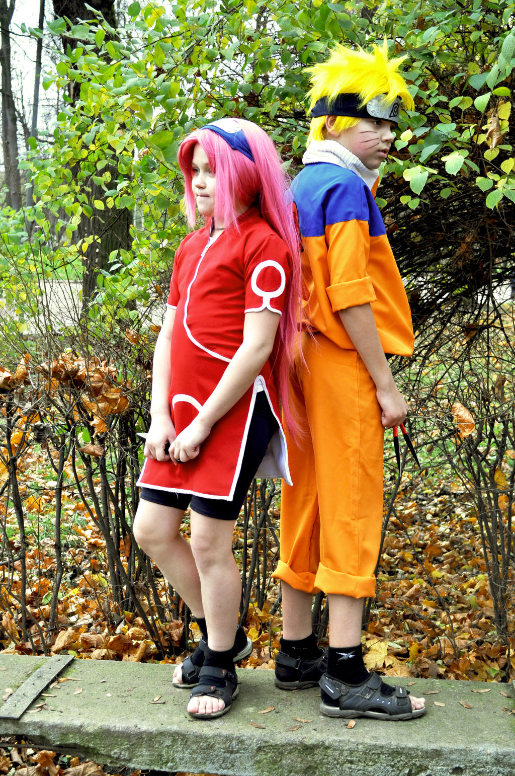 cosplay Sakura and Naruto 4 by NakagoinKuto