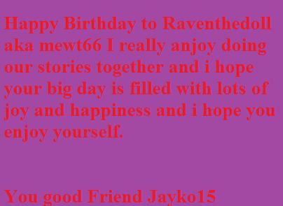 Happy Birthday Raventhedoll by Jayko-15