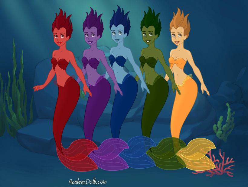 Rainbow Mermaids by Jayko-15