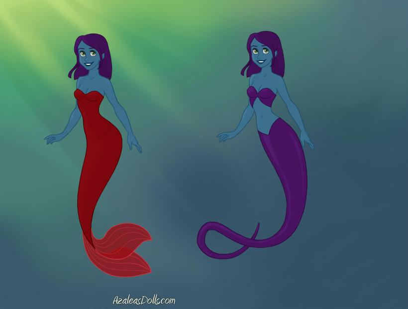Raven as a Mermaid and Naga by Jayko-15
